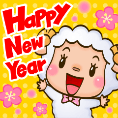 happy new year sheep line stickers line store