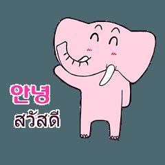 Pink elephant Finko(Thai-Korean)