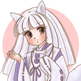 White fox girl