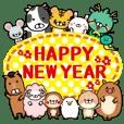 正月2020毎年使える年賀状12支スタンプ