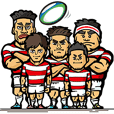 There is rugby Sticker