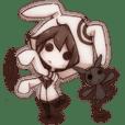 girl&rabbit