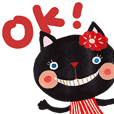 Bruno-Dolls Cheerful Cats Sticker