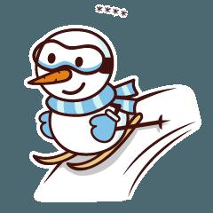 Winter snowman custom stickers