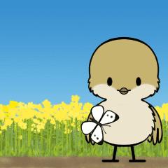 小さな和鳥の春スタンプ