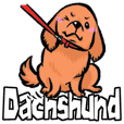 Miniature Dachshund sticker english ver