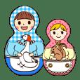マトリョーシカと一緒(日本語版)