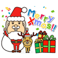 Sticker of Santa Claus