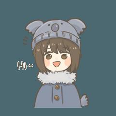 Girl With Koala Beanie (English)