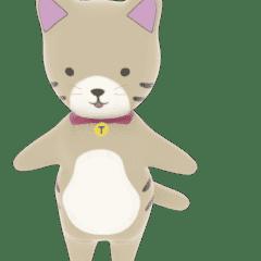 ネコのぽぷちゃんのアニメーションスタンプ