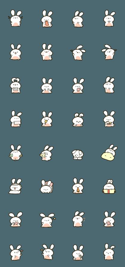 かわいい貪欲なウサギ