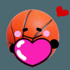 Object stamp-Sport Basketball Valentine