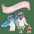 Akineko sticker