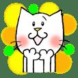 Daily conversation cat sticker