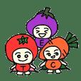 vegetable boy and fruit giirl