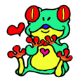 funky froggy sticker