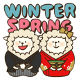 "fluffy sheep ""Winter and Spring"""