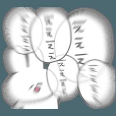 happy rabbit yuruusashirochan