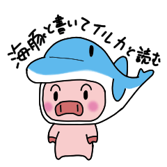 Write as sea pig and read as dolphin 2