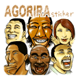 AGORIRA-Sticker.English ver