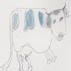cowcow sticker