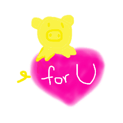 yellow pig colored