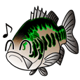 Fishing sticker Black bass
