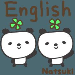 Natsuki 的 可愛熊貓英語貼紙