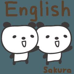 Sakura 的 可愛熊貓英語貼紙