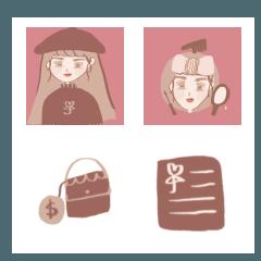 Dry flower milk tea temperament girl