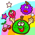 Happy Cartoon Fruits
