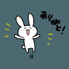 Laid back Rabbit Sticker