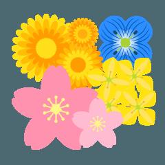Spring Flower Sticker
