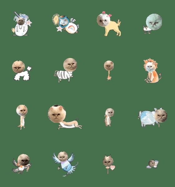 「Miko Catty imitates animals1」のLINEスタンプ一覧