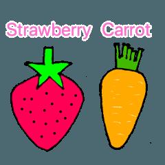English learning (fruit, vegetable)