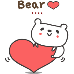 Cute and Love bear stickers for Thai