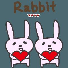 可愛和愛兔子貼紙 台湾 澳門 香港