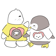 PP Bear with PP Penguin-Valentine's Day