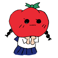 Everyday life of a tomato girl.