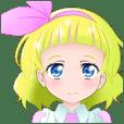 女の子スタンプ アリシアちゃん