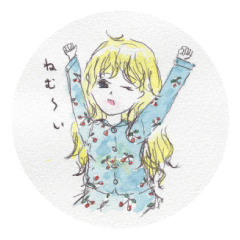 Girls sticker by aoka