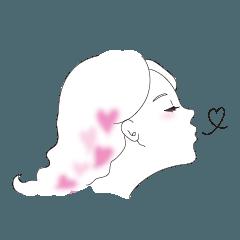 aki draws a girl