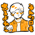 kawaii people sticker