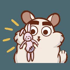 Chinchilla ZuZu and his imperfect bunny
