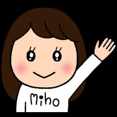 MIHO's sticker..