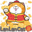 Lan Lan Cat Rat year sticker(EN ver.)
