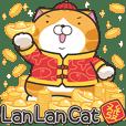 ランラン猫お正月の巻☆子年(英語版)