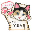 Happy New Year Meow Sticker