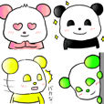 colorful panda Stickers English ver