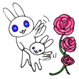 A rose and mother rabbit